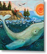 Humpback Whales In Santa Cruz Metal Print
