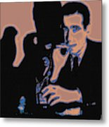 Humphrey Bogart And The Maltese Falcon 20130323m88 Square Metal Print by Wingsdomain Art and Photography