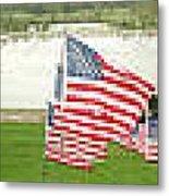 Hundreds Of American Flags September 11 Memorial In Saint Louis Missouri Metal Print