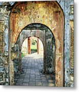 Hung Temple Arches Metal Print