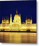 Hungarian Parliament Building, Budapest Metal Print