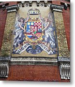 Hungary Coat Of Arms In Budapest Metal Print