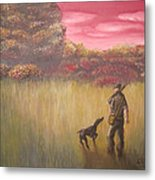 Hunter And Pointer Metal Print