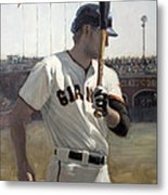 Hunter Pence On Deck Metal Print