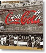 Hunter's Drug Store Coca-cola Mural Greensboro Georgia Marion Post Wolcott Fsa Spring 1939-2014  Metal Print
