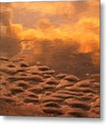 Hunting Island Sunrise Reflections Metal Print