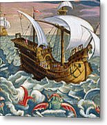 Hunting Sea Creatures Metal Print