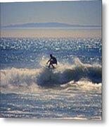 Huntington Beach California Surfer Metal Print