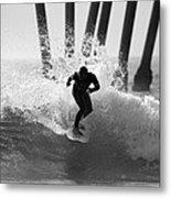 Huntington Beach Surfer Metal Print