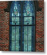 Stained Glass Arch Window Metal Print