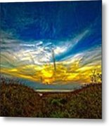 Huron Evening 2 Oil Metal Print
