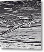 Hurricane Fighter Plane Relief Metal Print