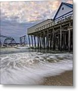 Hurricane Sandy Metal Print by Mike Orso