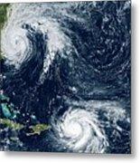 Hurricanes Maria And Jose Metal Print