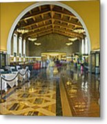 Hussel And Bussel At The Union Train Station Los Angeles Ca Metal Print