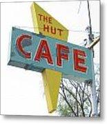 Hut Cafe Metal Print