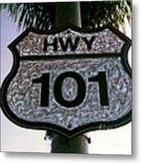 Hwy 101 Metal Print