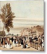Hyde Park, Towards The Grosvenor Gate Metal Print