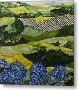 Hydrangea Valley Metal Print
