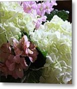 Hydrangeas Bouquet Metal Print