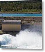 Hydro Power Station Dam Open Gate Spillway Water Metal Print