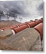 Hydroelectric Plant In Renewable Energy Concept Metal Print
