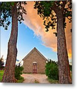 Hygiene Colorado Church Of The Brethren 1880 Sunset Metal Print