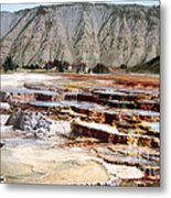 Hymen Terrace Yellowstone National Park Metal Print