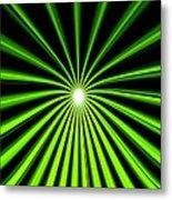 Hyperspace Electric Green Portrait Metal Print