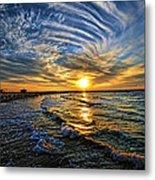 Hypnotic Sunset At Israel Metal Print by Ron Shoshani