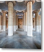 Hypostyle Room In Park Guell Metal Print
