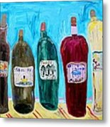 I Choose Wine By The Label Metal Print