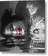 I Float On Red Metal Print