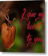 I Give My Heart To You Metal Print by Old Pueblo Photography