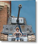 I Have A Tank.  Your Argument Is Invalid Metal Print