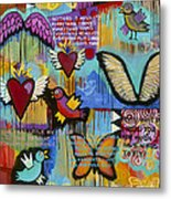 I Have Wings To Fly Metal Print