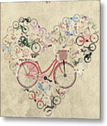 I Heart My Bike Metal Print by Andy Scullion