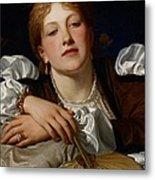 I Know A Maiden Fair To See Metal Print by Charles Edward Perugini