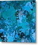 I Love Blue Metal Print