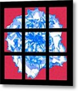 I Love Carnations Mosaic Metal Print