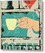 I Love Coffee. Coffee Typographical Metal Print