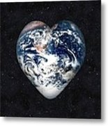 I Love Earth Metal Print