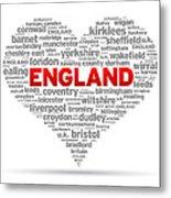 I Love England Metal Print
