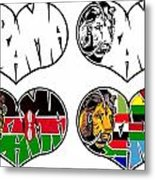 I Love Obama's African Roots Metal Print by Alexis Heath