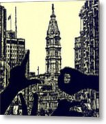 I Love Philly Metal Print