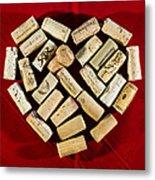 I Love Red Wine - Vertical Metal Print