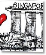 I Love Singapore Metal Print