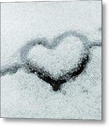 I Love The Winter Snow Metal Print