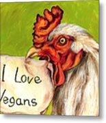 I Love Vegans Metal Print