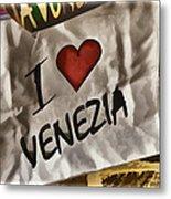 I Love Venezia Metal Print